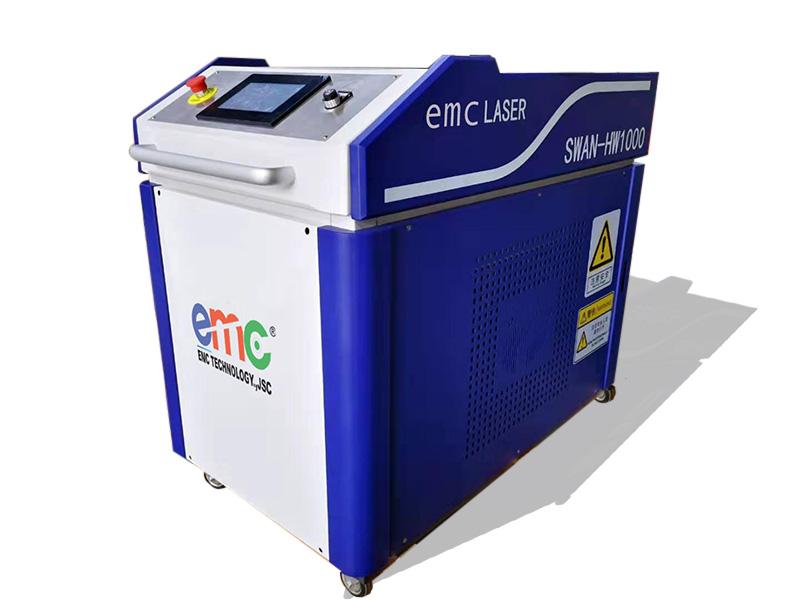máy hàn laser fiber cầm tay danh cho ngành gia công cơ khí kim loại.